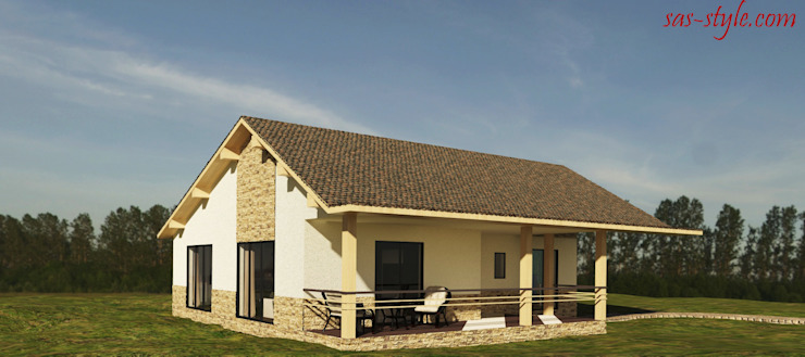 Загородный дом 160 м.кв Дома в стиле минимализм от Студия Аксаны Ситниковой Минимализм