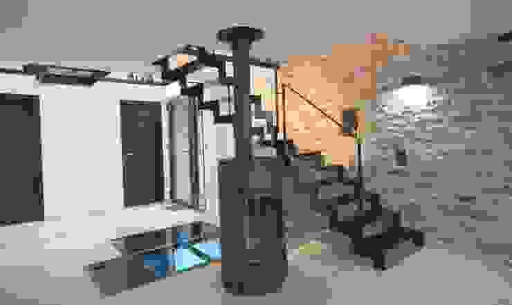 Rénovation d'une longère à Plouhinec Couloir, entrée, escaliers ruraux par LE LAY Jean-Charles Rural