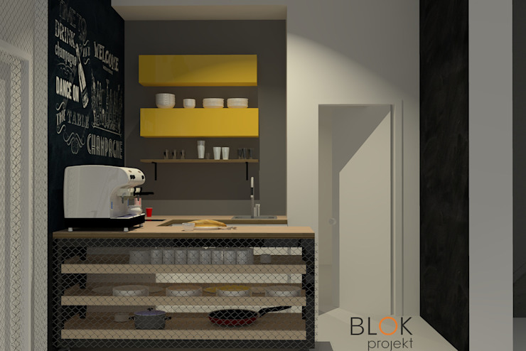 Blok projekt Industrial style kitchen