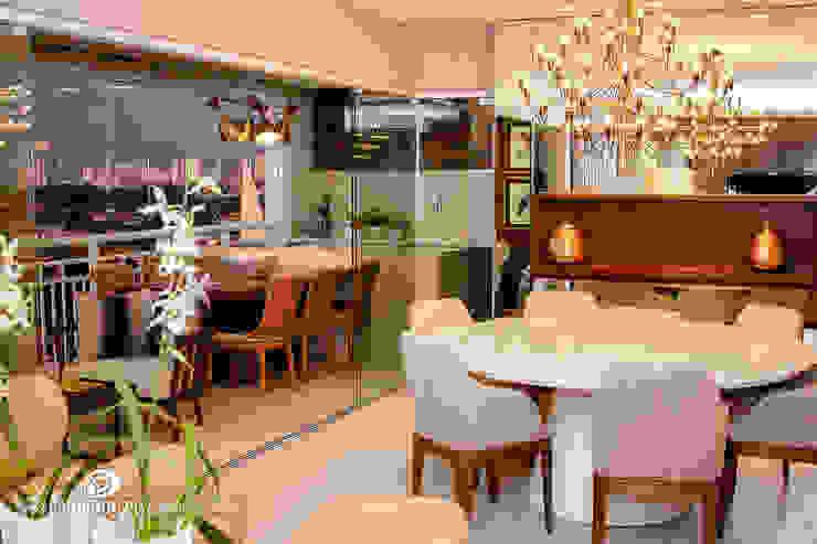 Jantar e Varanda - G A por Carolina Fagundes - Arquitetura e Interiores Clássico