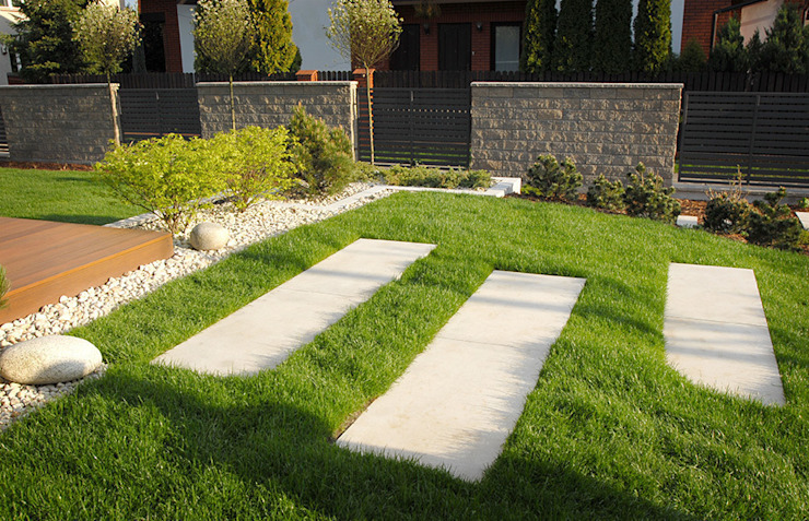 Autorska Pracownia Architektury Krajobrazu Jardin が手掛けた現代の, モダン
