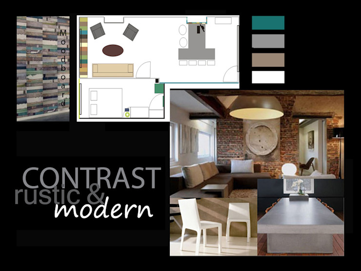 pedesaan  oleh Aileen Martinia interior design - Amsterdam, Rustic