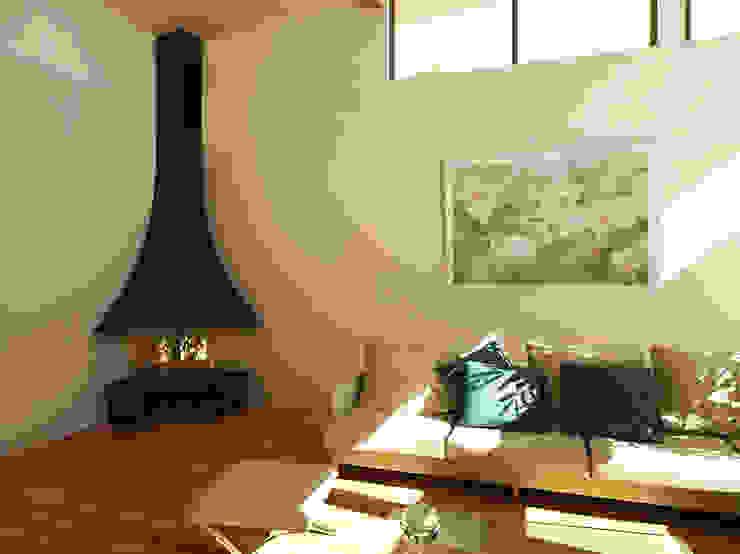 Raco Flame Ekofen ısı sistemleri Modern Oturma Odası