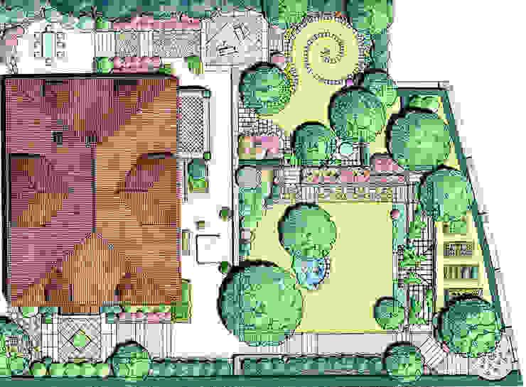 Eklektyczny ogród od MASSIMO SEMOLA PROGETTAZIONE GIARDINI MILANO Eklektyczny