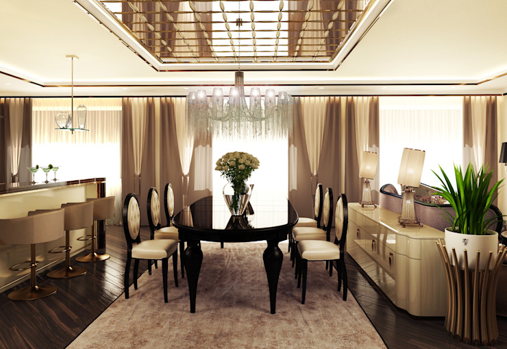Квартира на Фрунзенской LEO Company Столовая комната в классическом стиле