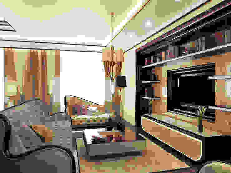 Квартира на Фрунзенской LEO Company Гостиная в классическом стиле