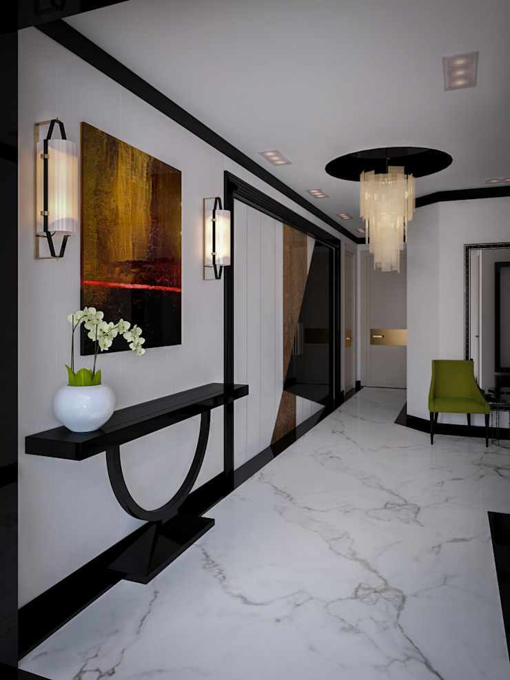 Квартира на Фрунзенской LEO Company Коридор, прихожая и лестница в классическом стиле