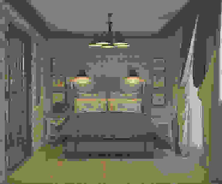 """<q class=""""-first"""">Симфония в синем</q> Спальня в эклектичном стиле от Marina Sarkisyan Эклектичный"""