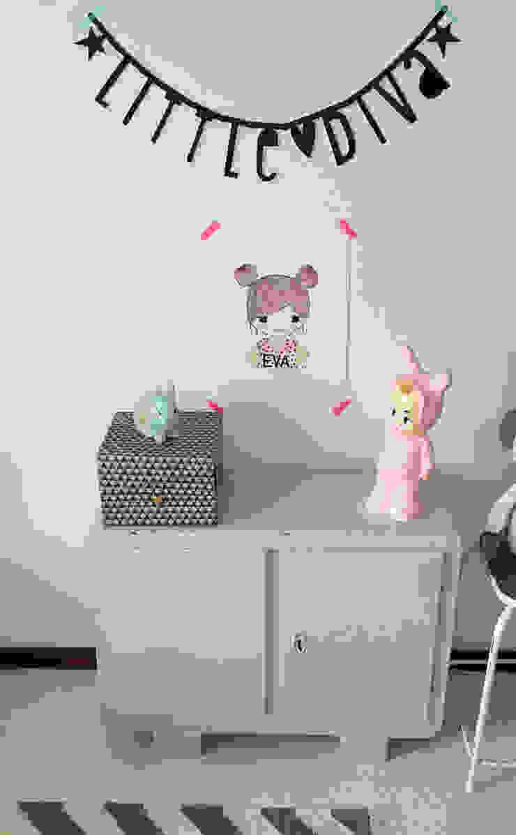 ラスティックデザインの 子供部屋 の Kinderkamervintage ラスティック