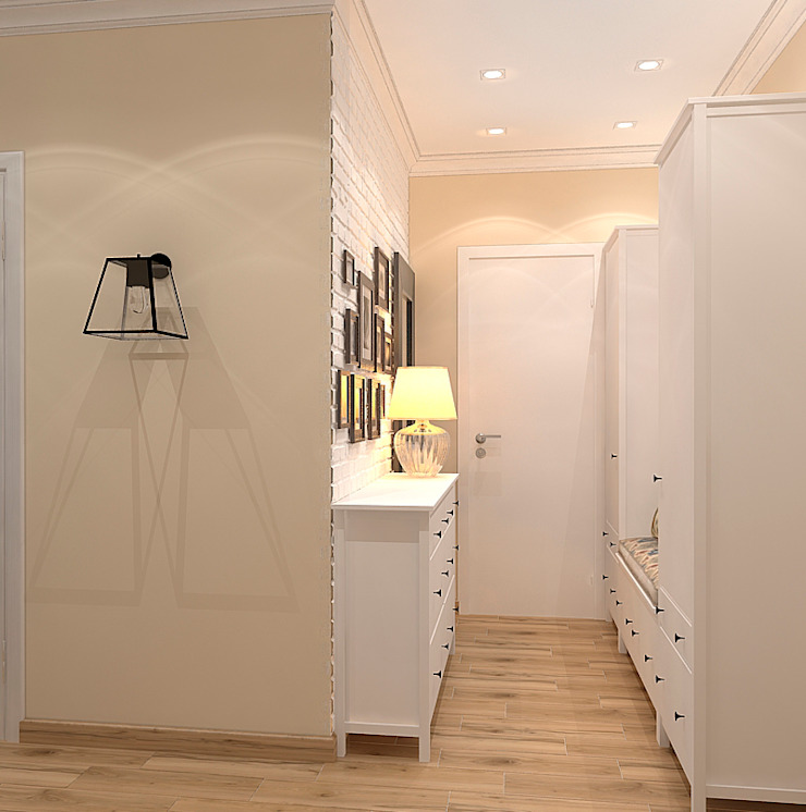 Квартира в Орехово Коридор, прихожая и лестница в скандинавском стиле от Design Скандинавский