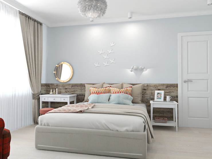 Ekaterina Donde Design Scandinavian style bedroom