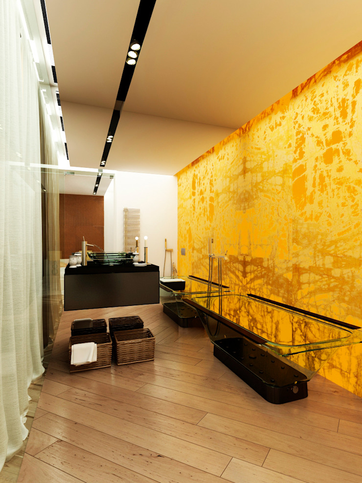 Квартира 200 м.кв в Измайлово Ванная комната в стиле модерн от LEO Company Модерн