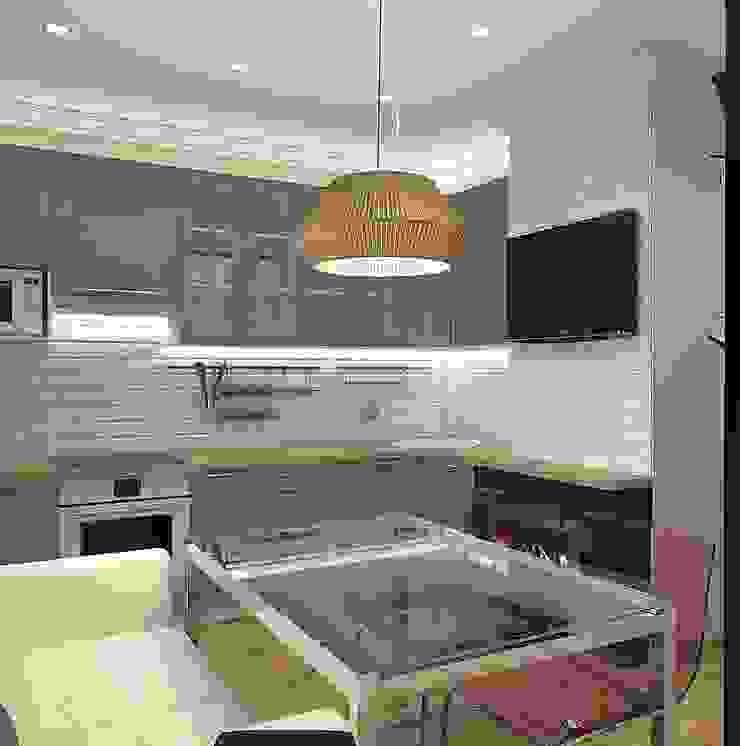 Квартира в Орехово Кухня в скандинавском стиле от Design Скандинавский