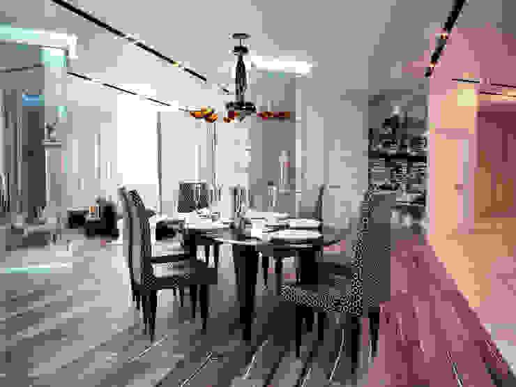 Квартира 200 м.кв в Измайлово Столовая комната в классическом стиле от LEO Company Классический