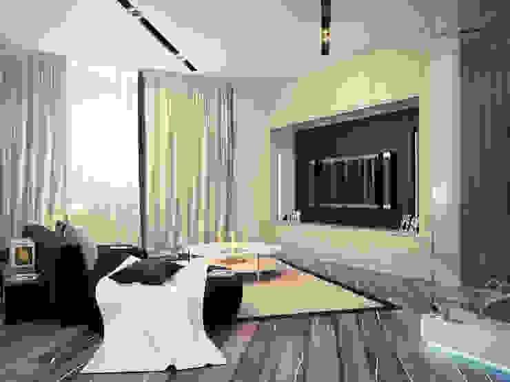 Квартира 200 м.кв в Измайлово Гостиные в эклектичном стиле от LEO Company Эклектичный
