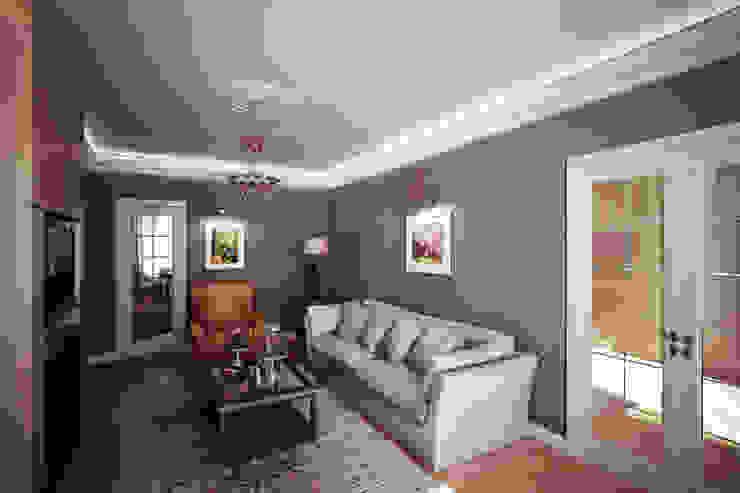 Четырехкомнатная квартира в Москве Гостиная в классическом стиле от Анастасия Муравьева Классический