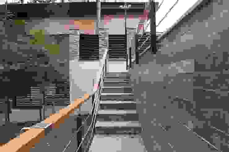 Лестница к гаражу Дома в стиле минимализм от ORT-interiors Минимализм