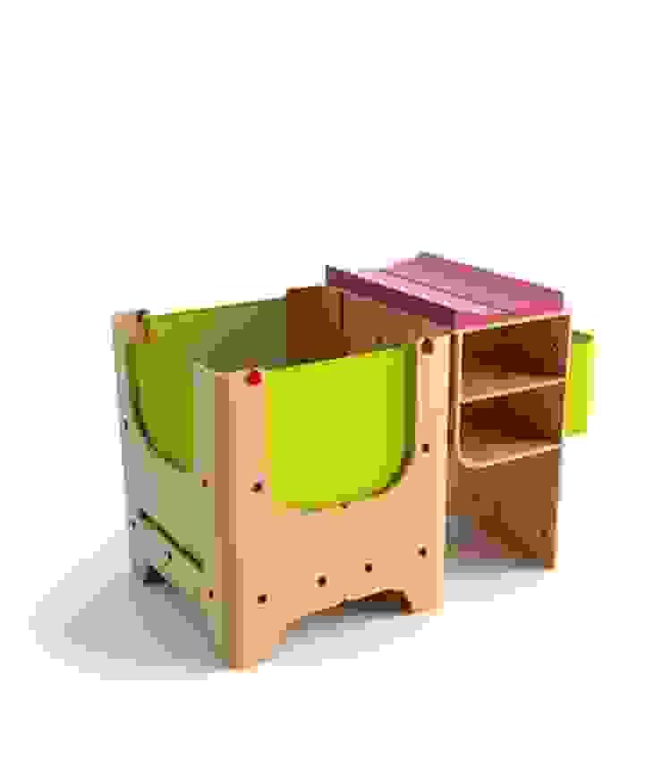 łóżeczko dziecięce - faza 1 Nowoczesny pokój dziecięcy od Grupa projektowa odRzeczy Nowoczesny