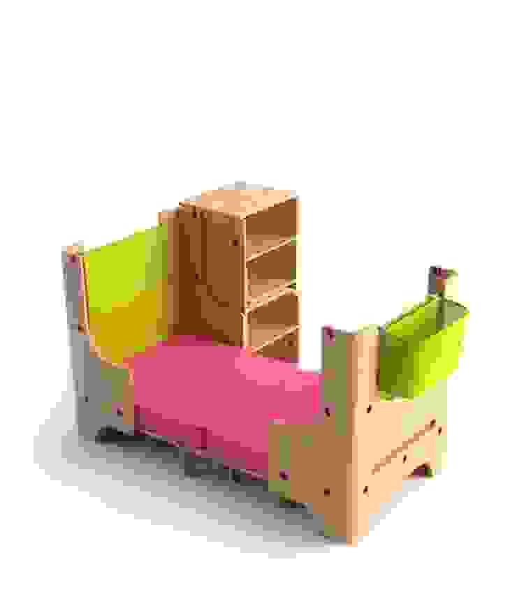 łóżeczko dziecięce - faza 3 Nowoczesny pokój dziecięcy od Grupa projektowa odRzeczy Nowoczesny