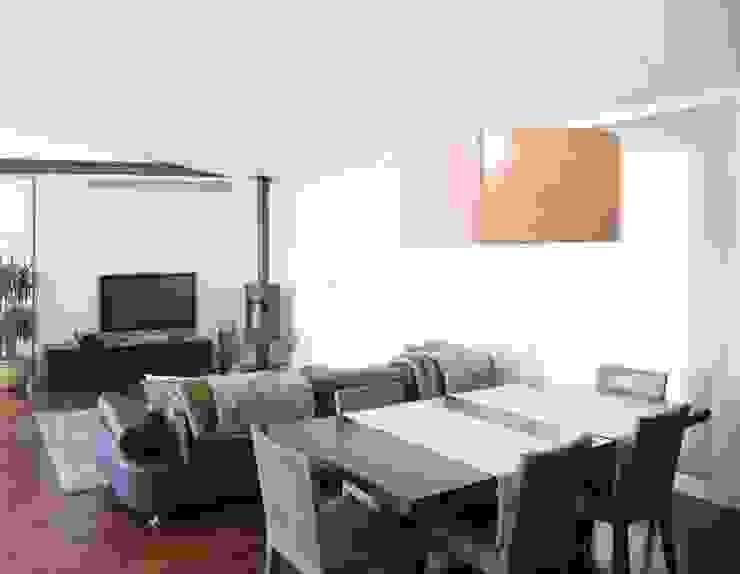 Casa Masip Salones de estilo moderno de Ascoz Arquitectura Moderno