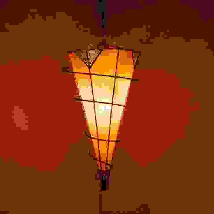 Lampa sufitowa z Maroka henna SALYKA pomarańczowa od DomRustykalny.pl Rustykalny