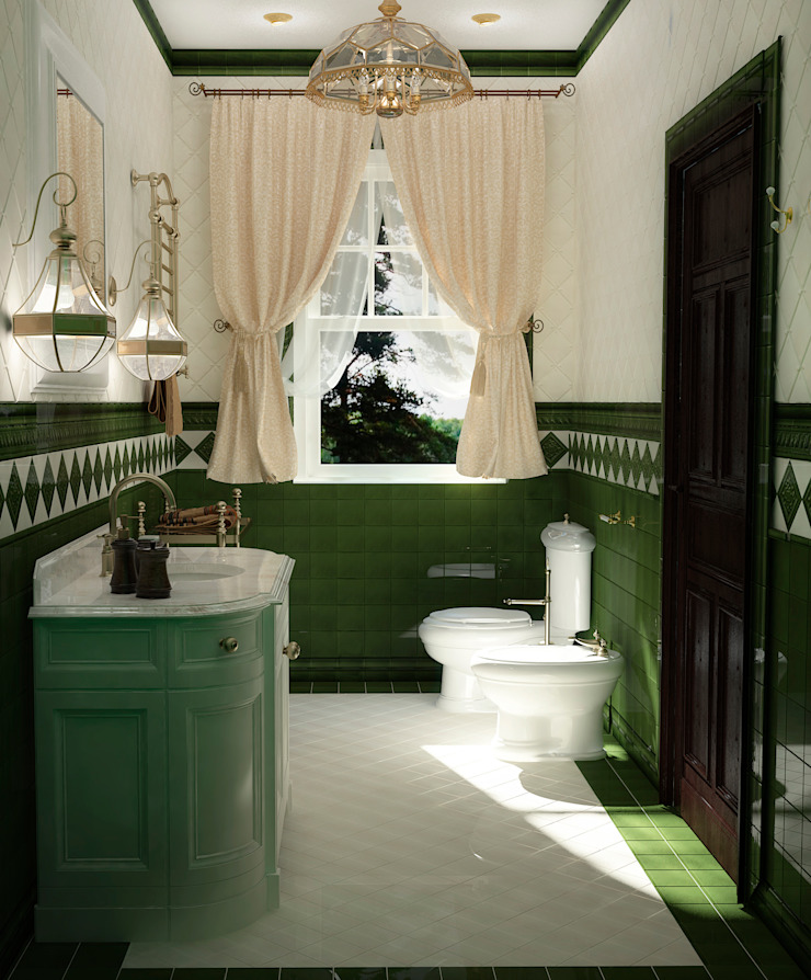 Ванная классическая Ванная в классическом стиле от Настасья Евглевская Классический