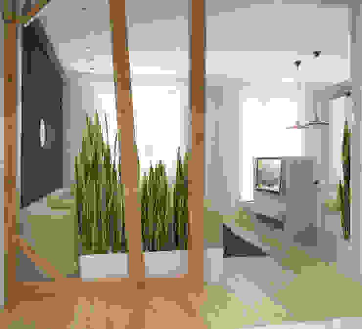 группа Kstudio Minimalist corridor, hallway & stairs