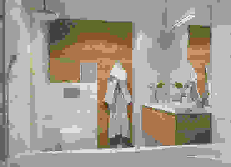 группа Kstudio Minimalist style bathroom