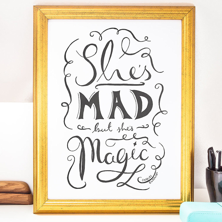 SHE'S MAD BUT SHES MAGIC PRINT homify ArtworkPictures & paintings