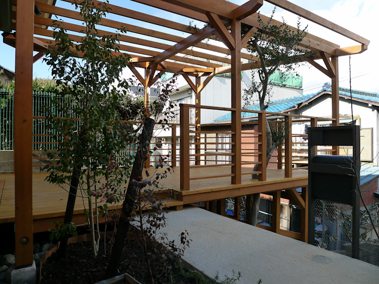 Balcon, Veranda & Terrasse scandinaves par 風建築工房 Scandinave