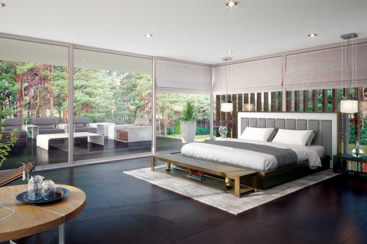 Canford Cliffs, Poole Camera da letto moderna di David James Architects & Partners Ltd Moderno