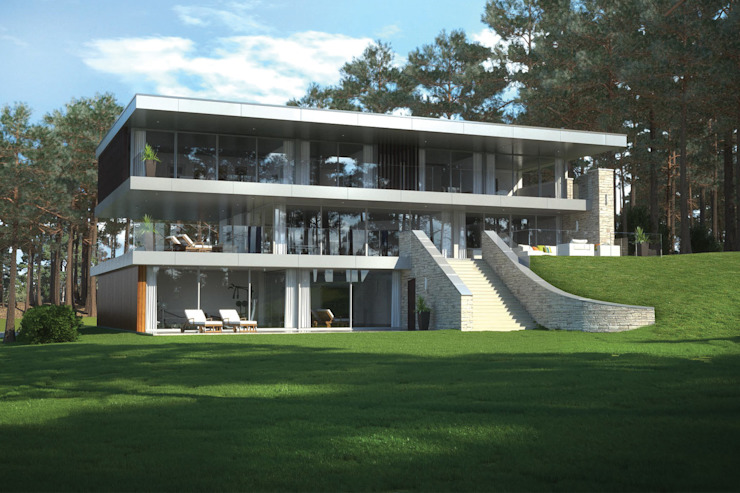 Canford Cliffs, Poole Casas modernas de David James Architects & Partners Ltd Moderno