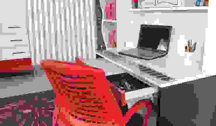 Alım Mobilya – Melodi Young Room Desk & Bookcase: minimalist tarz , Minimalist