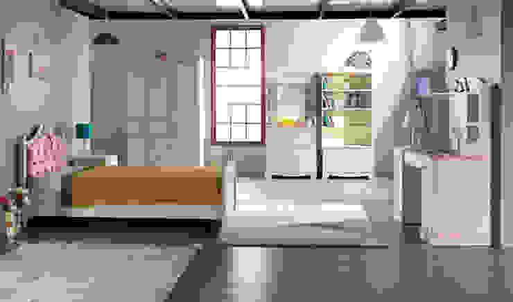 YILDIZ MOBİLYA – Pink genç odası: modern tarz , Modern