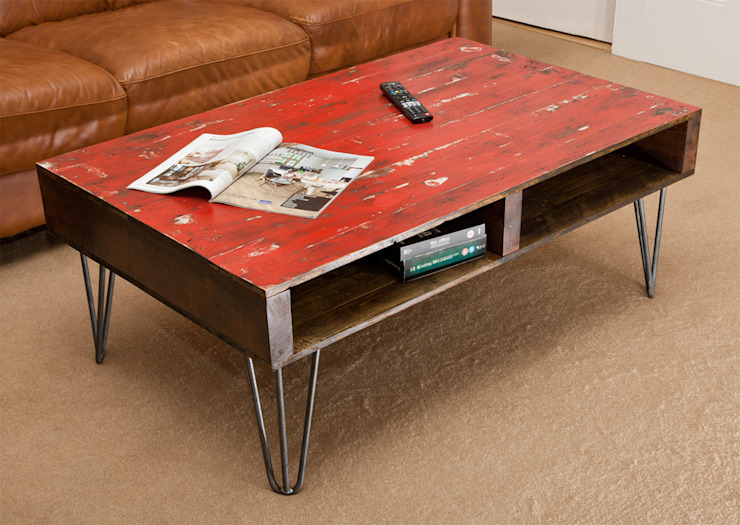 Harper Coffee Table: industrial  by swinging monkey designs, Industrial