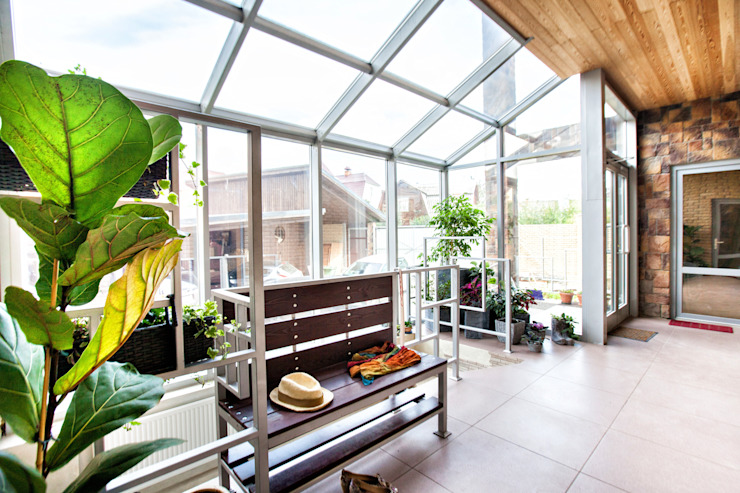 Eclectic style conservatory by homify Eclectic