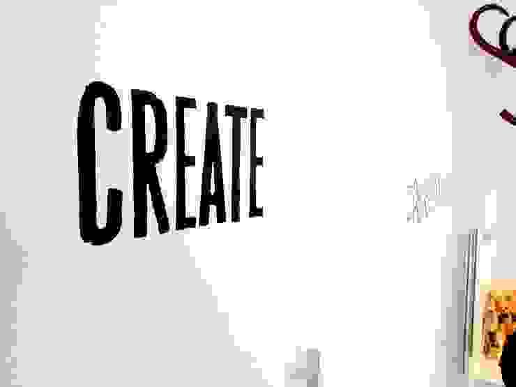 Cut vinyl typographic wall stickers: modern  by Vinyl Impression, Modern