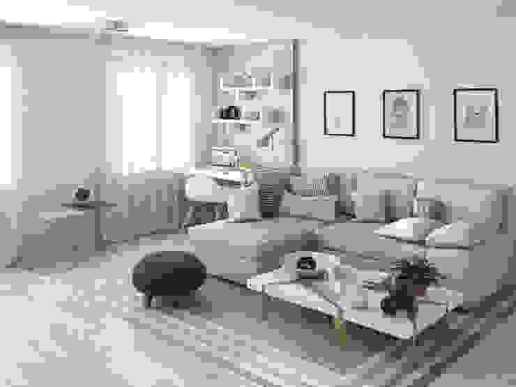 Living room by  Nataly Liventsova, Scandinavian