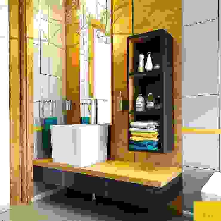 現代浴室設計點子、靈感&圖片 根據 Penintdesign İç Mimarlık 現代風