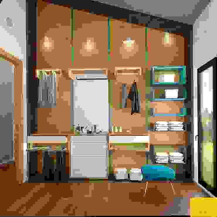 Erbek Nif 3+1 Villa için Tasarımlar - Üst Kat Modern Giyinme Odası Penintdesign İç Mimarlık Modern
