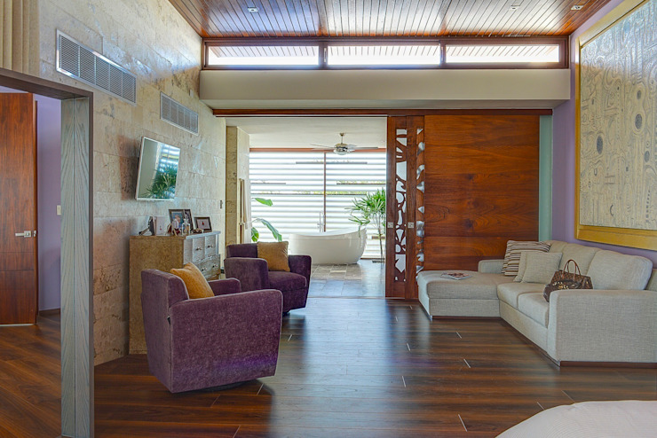 Tropical style bedroom by Ancona + Ancona Arquitectos Tropical