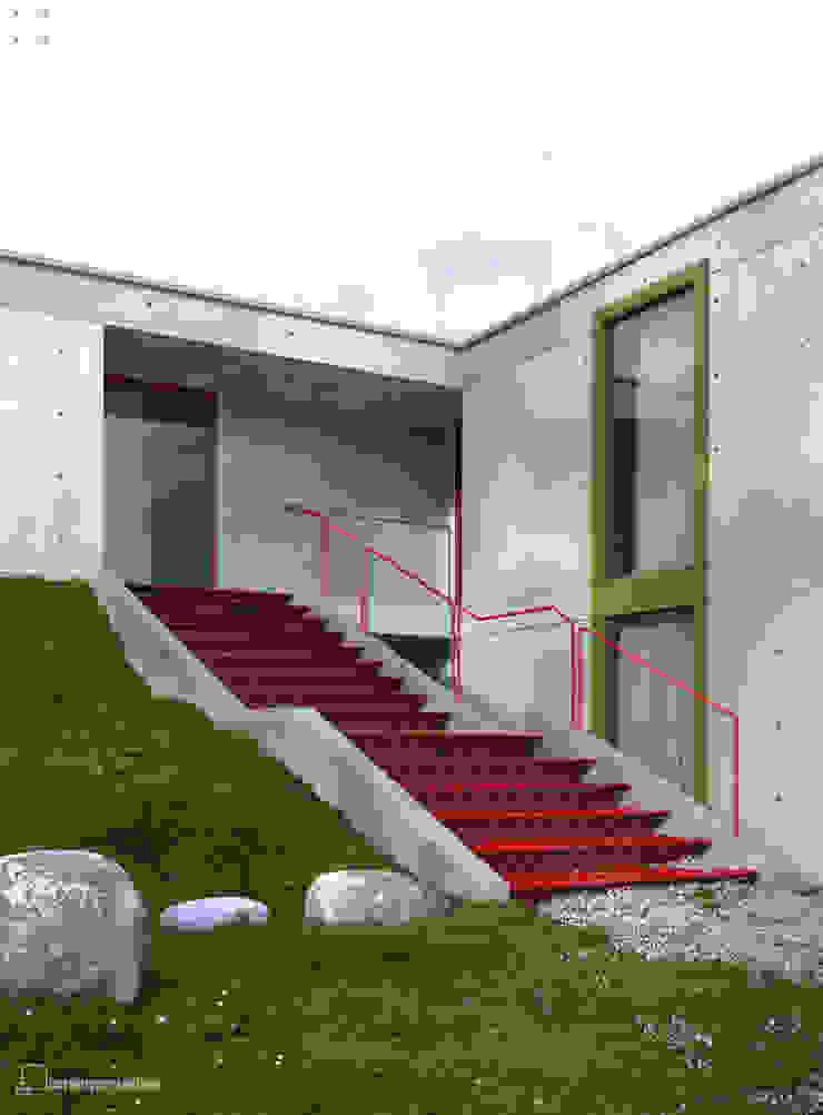 Dom na skarpie Nowoczesne domy od Seryjny Projektant Nowoczesny