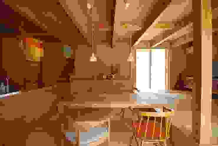 福釜の家: 神谷建築スタジオが手掛けたダイニングです。,オリジナル