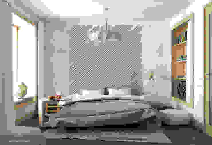 Piece of wood Modern style bedroom by Seryjny Projektant Modern