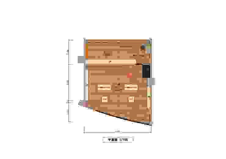 Plan view por きど建築設計事務所(Kido Architectural Design Office) Moderno