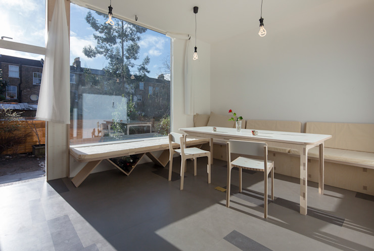 House of Trace Minimalist dining room by TSURUTA ARCHITECTS Minimalist