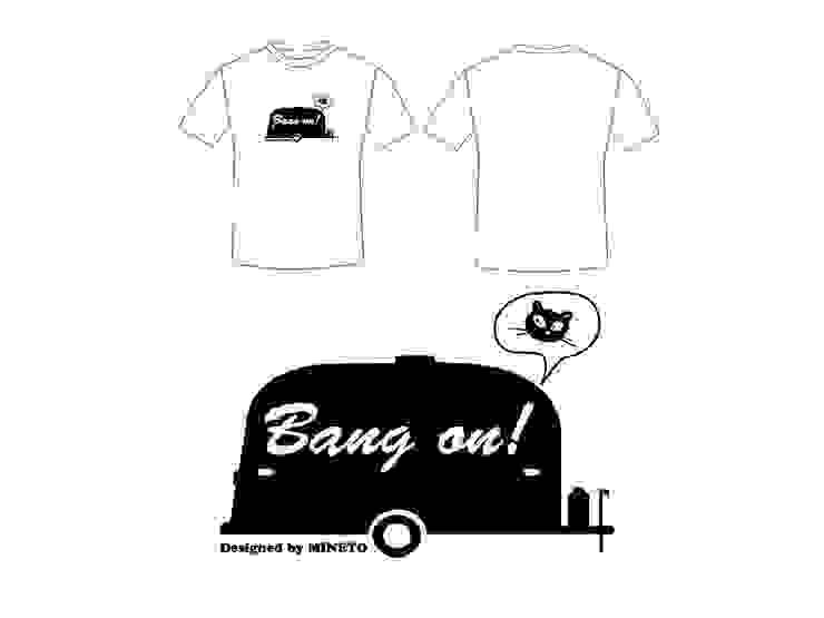 T Shirt : Bang On: 토마디자인 TOMA DESIGN의 미니멀리스트 ,미니멀