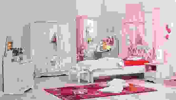 Ev Gör Mobilya Sanayi Tekstil ve Ticaret LTD. ŞTİ. – En Şık Kız Çocuk Odaları: modern tarz , Modern