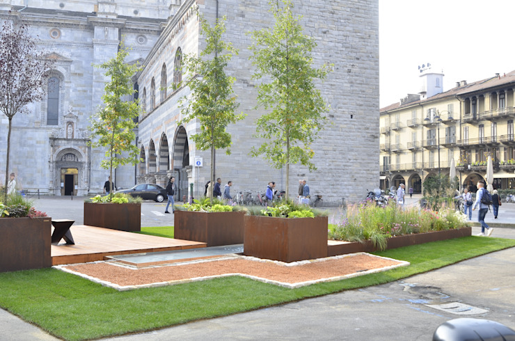 Jardins modernos por Glauco Pertoldi - Landscape and Garden Design Moderno