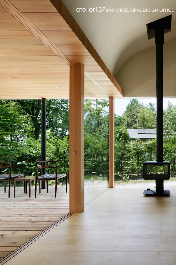 031軽井沢Tさんの家 モダンデザインの リビング の atelier137 ARCHITECTURAL DESIGN OFFICE モダン